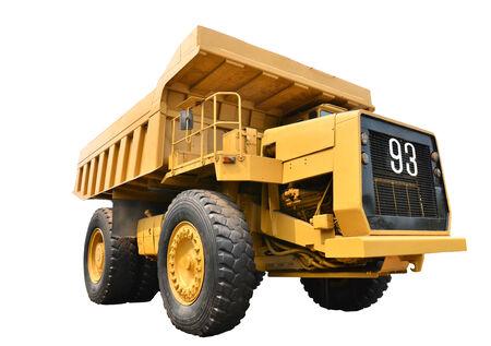 mining truck: viejo camión minero aislado en blanco Foto de archivo
