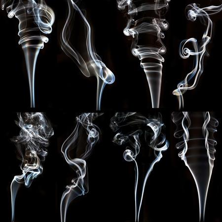 textured of incense smoke on dark background photo