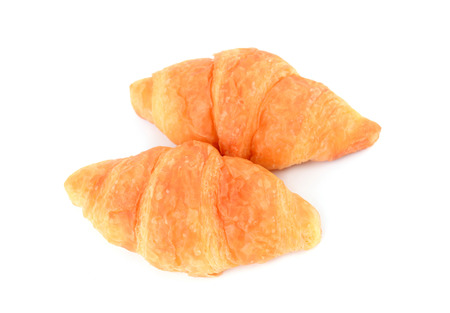 croissant isolated on white background photo