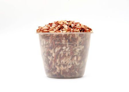 dry cleaned: milled rice imperfectly cleaned in measuring cup
