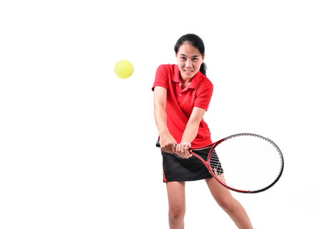 tennis player isolated on white background photo