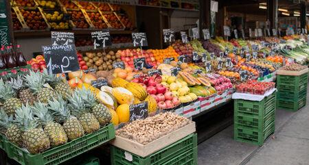 local vegetable market in vienna austria Stock Photo