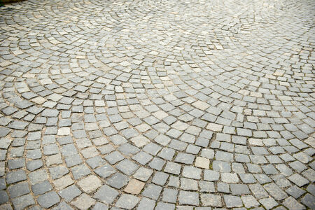 cobble: The road was paved with stones Stock Photo