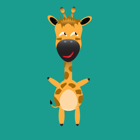 tricky: tricky giraffe gartoon character vector