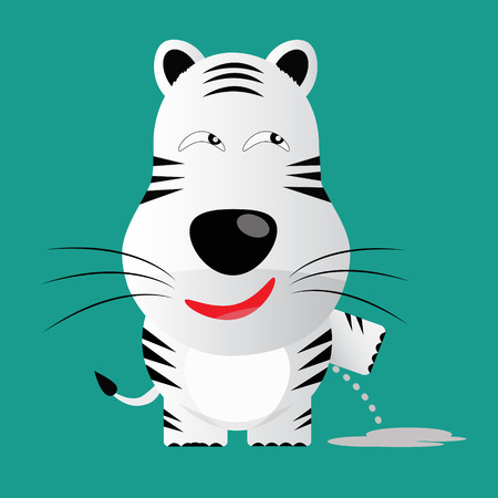 tricky: tricky white bengal tiger gartoon character vector
