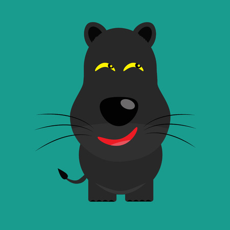 tricky: tricky black leopard gartoon character vector