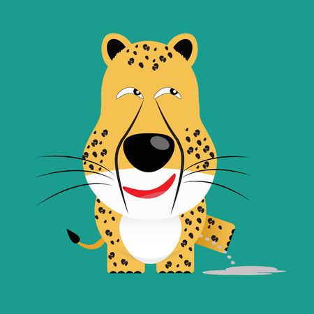 tricky: tricky cheetah gartoon character vector