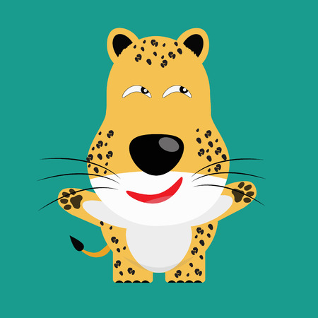 tricky: tricky leopard gartoon character vector Illustration