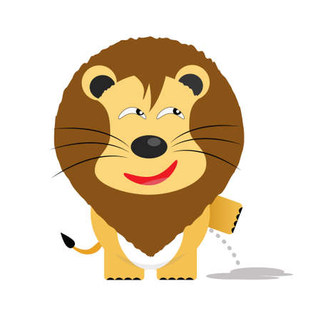tricky lion gartoon character vector