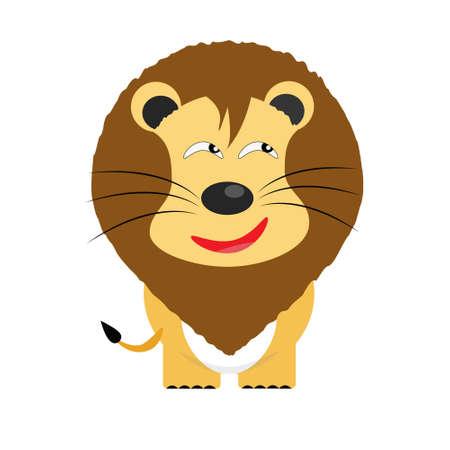 tricky lion gartoon character vector