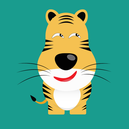 panthera: tricky bengal tiger gartoon character vector