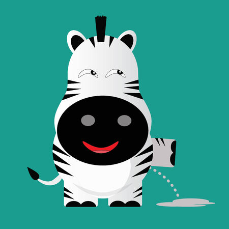 tricky: tricky zeebra gartoon character vector