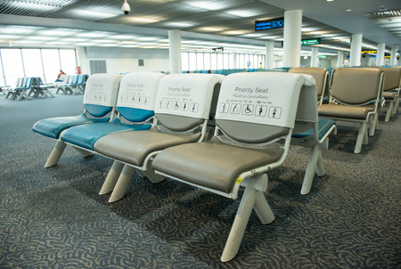 priority: priority seat in the airport Stock Photo