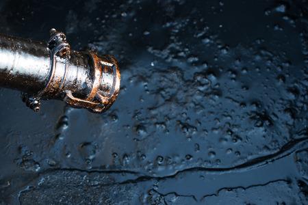 fioul: pétrole brut à partir de puits de pétrole Banque d'images