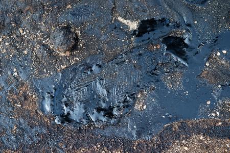 soil: crude oil contaminate to environment Stock Photo