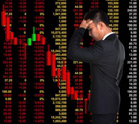 bear market: business man in bear market stock investment concept
