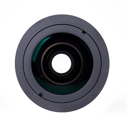 camra: part of camra lens isolated on white background