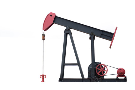pumpjack  isolated on white background Stock Photo