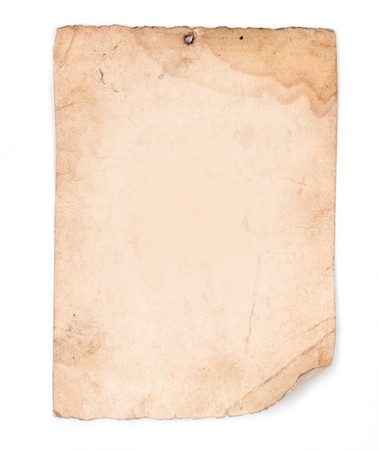 paper old: brown old paper isolated on white background