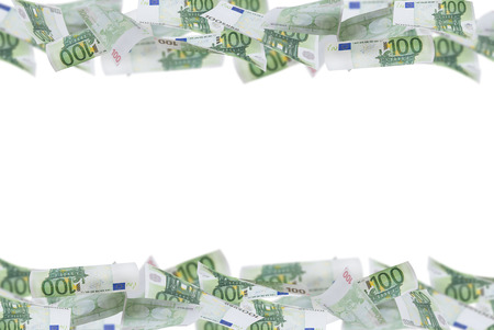 euro notes: one hundred Euro Notes photo frame