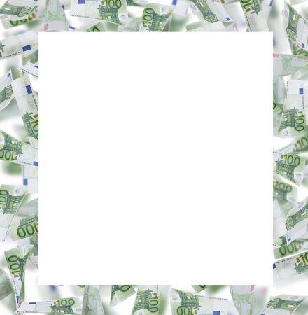 billets euros: une centaine d'euro-obligations cadre photo