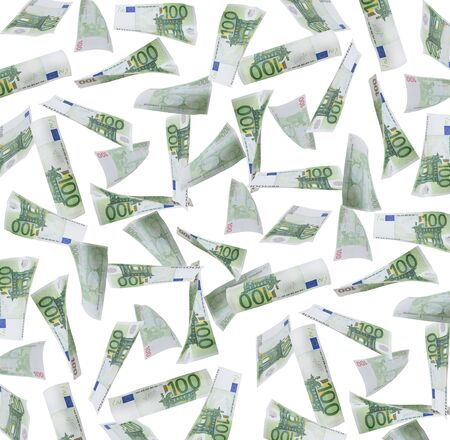euro notes: one hundred Euro Notes background