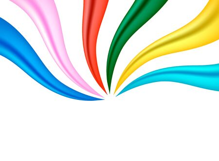 colourful: colourful fabric ribbon background concept Stock Photo
