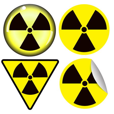 symbol yellow: nuclear radiation warning symbol vector Illustration