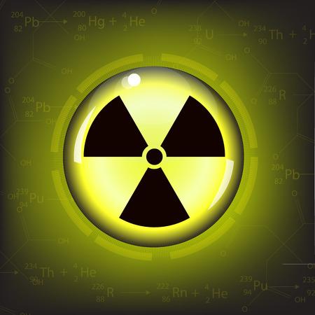 nuclear reactor: nuclear radiation warning symbol vector Illustration