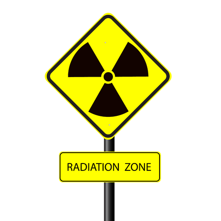 caution chemistry: nuclear radiation warning symbol vector Illustration