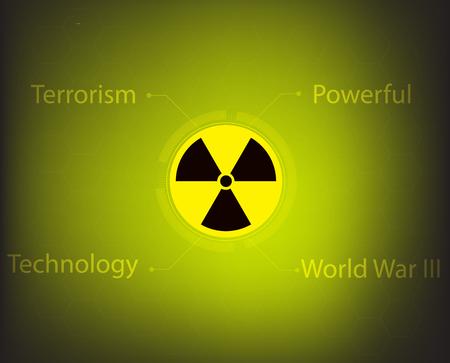 radiacion: radiaci�n nuclear s�mbolo de advertencia de vectores Vectores