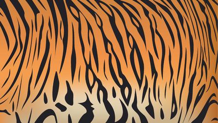 Vektor-Illustration der Bengal-Tiger Streifenmuster Standard-Bild - 45068173