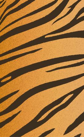 Vector illustratie van de Bengaalse tijger streeppatroon