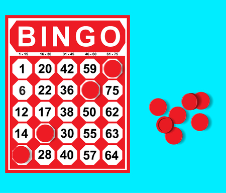 chances: illustration of bingo card game