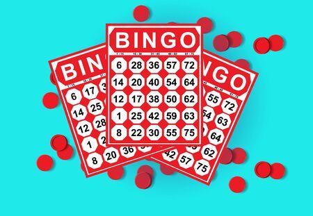 kartenspiel: illustration of bingo card game