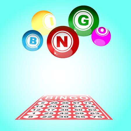 fun background: illustration of bingo card and ball
