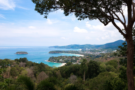 kata: Kata and Karon Viewpoint in Phuket island thailand Stock Photo