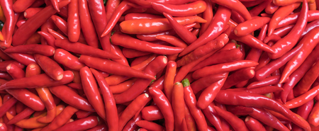 group of fresh red chili pepper background