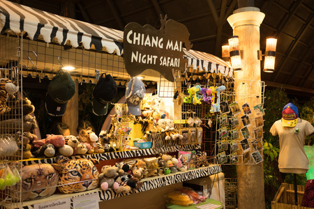 repose: CHIANGMAI, THAILAND, 07 DECEMBER 2016, CHIANG MAI NIGHT SAFARI: zoo with many wildlife animals in natural habitat, One of the main attractions of northern Thailand popular among tourists Editorial
