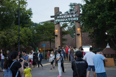 avocation: CHIANGMAI, THAILAND, 07 DECEMBER 2016, CHIANG MAI NIGHT SAFARI: zoo with many wildlife animals in natural habitat, One of the main attractions of northern Thailand popular among tourists Editorial