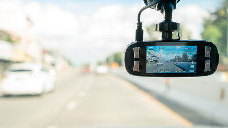 car camera for safety on the road accident Stock Photo