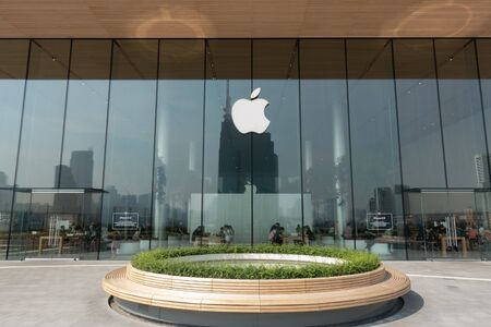 BANGKOK, THAILAND - 12 January 2019- View of an Apple store at the Icon Siam: a large shopping mall in Bangkok, Thailand