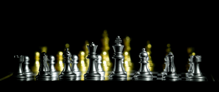 koncepcja szachowej gry planszowej dla konkurencji i strategii