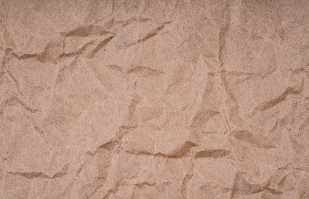 crumpled brown paper  texture surface for background 스톡 콘텐츠