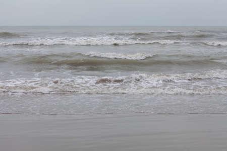 gloomy sea in nasty weather Stock Photo