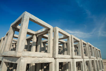 Large concrete blocks  Prepared for an artificial reef  Put a layer on the beach  photo