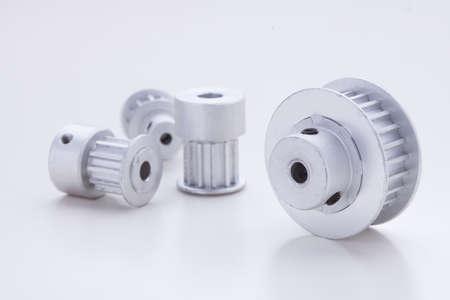 pulleys: las poleas de sincronismo en el fondo blanco
