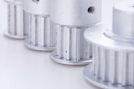 pulleys: las poleas de sincronismo en blanco