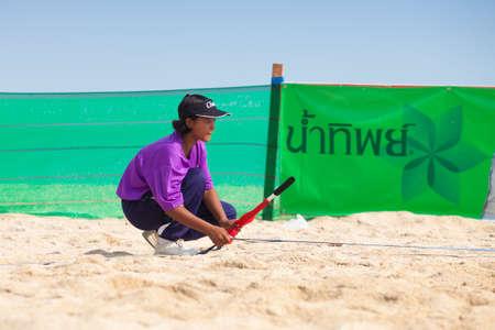 medalist: Thailand - April, 14: The grooming of Samila-Chang AVC Beach Volleyball Tour-Samila Open 15th. 14-18 April 2014. Samila beach,Songkhla, Thailand Editorial