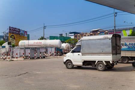 pv: BANGKOK, THAILAND - October 18, 2014: A PV Petroleum gas station in Bangkok. VP Petroleum with several branches in Bangkok.
